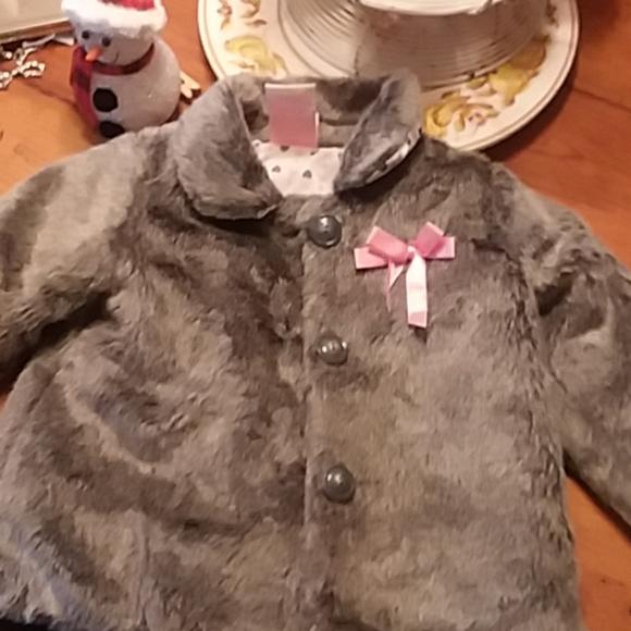 Toddler Faux Fur Jacket. 2T